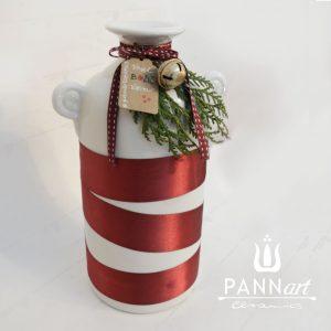 Vesel božič vaza Long z dekoracijo